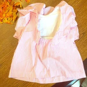 6T crewcuts candy striped blouse